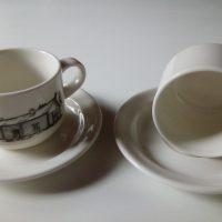 Forte kahvikupit talonkuvalla. Arabia