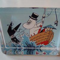 Muumipappa ja meri, lasikortti. Iittala