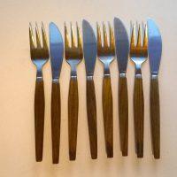 Puuvartiset ruokailuvälineet 4kpl
