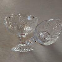 Sokerikko/kermakkosetti, kirkasta lasia. Nuutajärvi